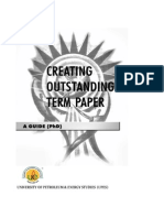 Creating Outstanding Term Paper for PhD
