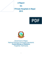 A Report on Census of Private Hospitals in Nepal 20131