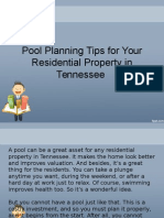 Pool Planning Tips for Your Residential Property in Tennessee
