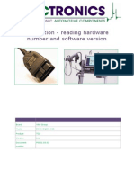 Reading Hardware Number and Software Version DSG