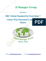 BRC Global Standard for Food Safety Issue7-Document Matrix.