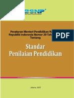 Permendiknas No 20 Tahun 2007 Tentang Standar Penilaian