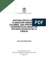 Historia Crítica de La Planeación Urbana en Colombia