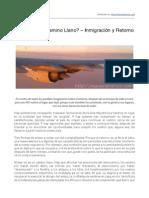 Volver… ¿Un Camino Llano? – Inmigración y Retorno