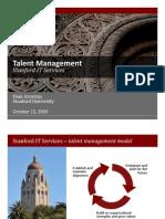 Stanford Talent Management 101309