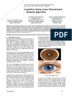 Human Iris Recognition Using Linear Discriminant Analysis Algorithm