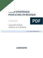 Vision stratégique pour le rail en Belgique