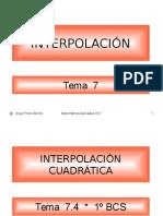 Interpolación.