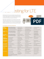 Aricent Solution Brief LTE Testing