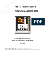 Response to State of the Nation Address 2015