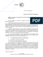Rapport de la Cour des comptes sur le budget de l'Elysée