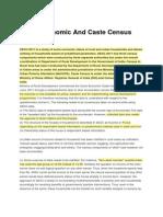 Socio Economic and Caste Census 2011