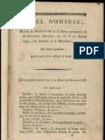 Appel nominal - quelle peine sera infligée à Louis XVI