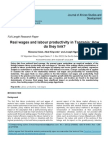 Real wages and Labour Productivity in Tanzania