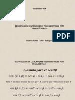 Trigonometría - Fórmulas Para Ángulos Dobles