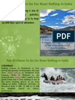 Top 20 Places to Go for River Rafting in India
