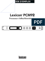 PCM92 Manual-French Original