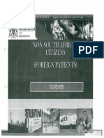 Gauteng Department of Health Non-South African Citizens (Foreign patients) Draft Guidelines