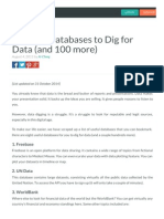 6 Useful databases to dig for data or