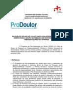 Edital Seleção de bolsista - UFPA