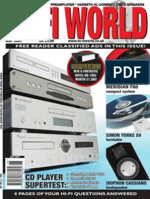 Technics Service Manual for the SL-P100 CD Player~Repair~Original