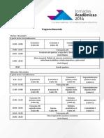 Programa Sesiones Paralelas