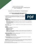 Taller de Evaluación Privada y Análisis de Riesgo 2009