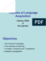 theories of language acquisition 2a
