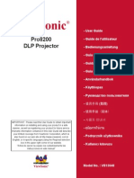 Projector Manual View Sonic Pro9800