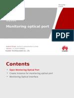 U2000 Datacomm SOP - 3.Monitoring Optical Port