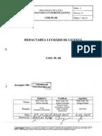 Procedura Redactare Lucrare Licenta PL-88