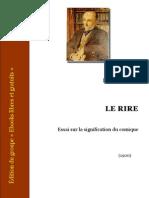[Bergson] Le Rire