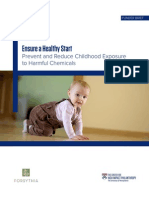 Ensure a Healthy Start Prevent and Reduce Childhood Exposure to Harmful Chemicals