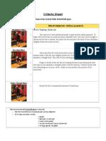 criteria sheet 8