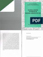 Alicja Pisarska & Teresa Tomaszkiewicz - Współczesne Tendencje Przekładoznawcze [Wydawnictwo Naukowe UAM]