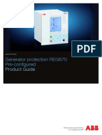 Generator Protection Reg670 1.1 Pre-configured Product