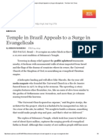 Temple in Brazil Appeals to a Surge in Evangelicals - The New York Times