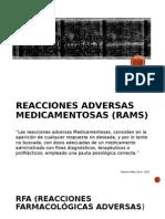 Reacciones Adversas Medicamentosas y Farmacovigilancia