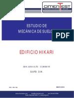 Estudio de Mecánica de Suelos Edificio Hikari - Quito