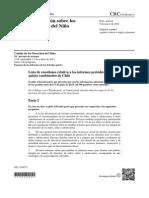 Comité de Derehos del Niño 2015 Cuestionario a Chile