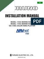Furuno Radar1724C 1734C GD1720C Installation Manual