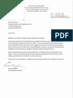 Fredette Letter to Legislative Council, Leaders