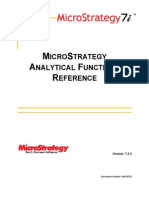 MicroStrategy Analitical Function Reference
