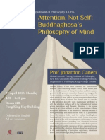 Buddhaghosa's philosophy of mind - poster
