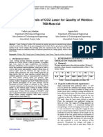 Parametric Analysis of CO2 Laser for Quality of Weldox- 700 Material