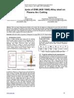 Parametric Analysis of EN8 (AISI 1040) Alloy steel on Plasma Arc Cutting