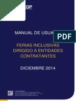 Ferias Inclusivas - Entidades Contratantes