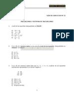 43 Ejercicios de Inecuaciones y Sistemas de Inecuaciones (2)