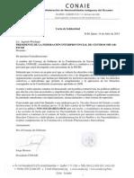 Carta de Solidaridad para Agustín Wachapá