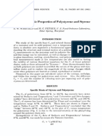 Thermodynamic Properties of Polystyrene and Styrene